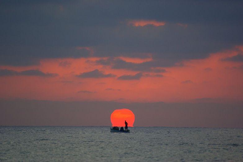 Вечерняя рыбалка на острове Джерба