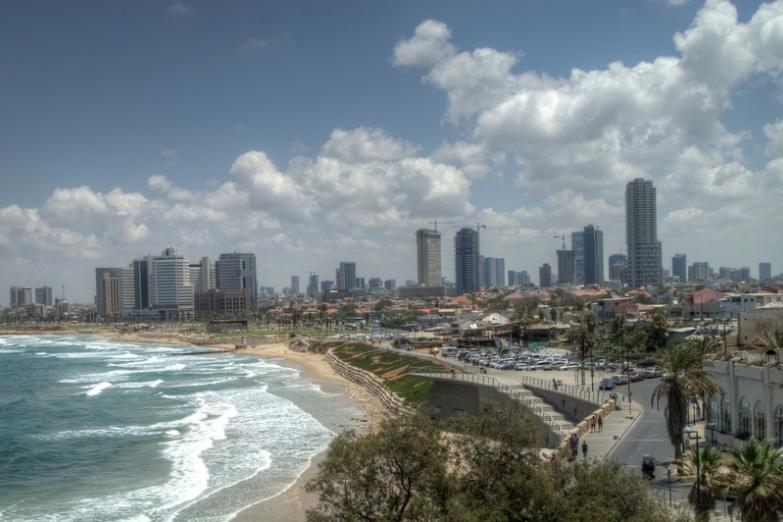 Вид на побережье и Тель-Авив