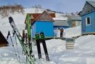 Лыжная станция в горах