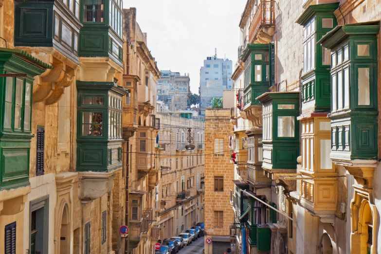 Узкие улицы Старой Валлетты