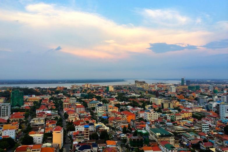 Вид на Пномпень