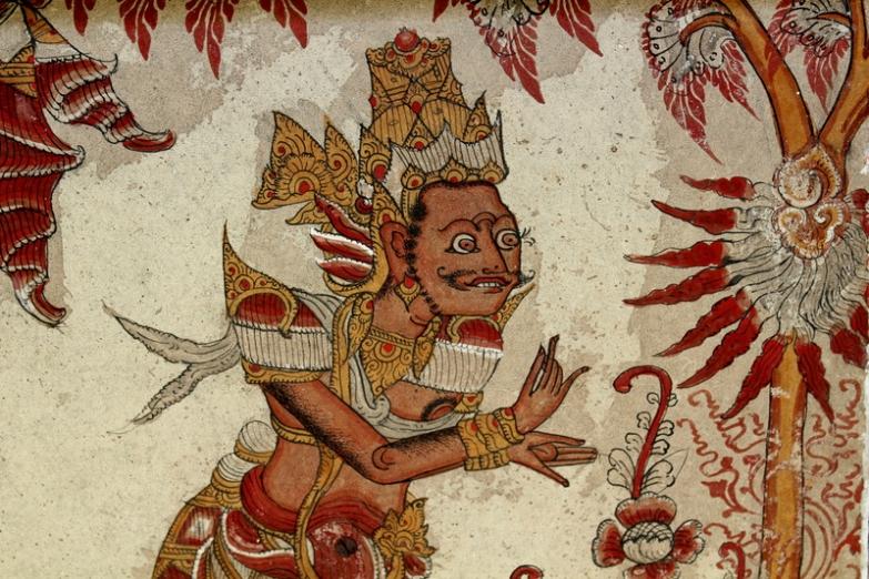 Роспись павильона Керта Госа в королесом дворце на Бали