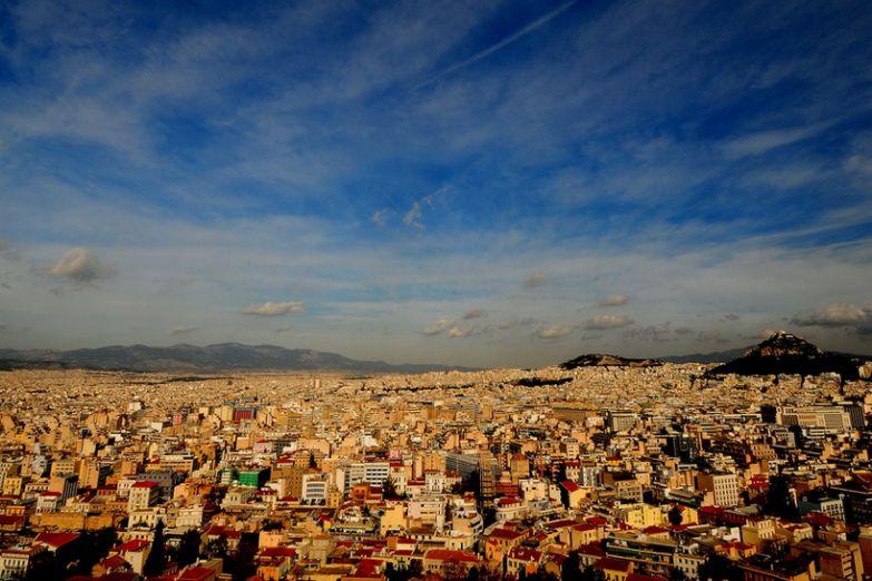Вид с Афинского Акрополя