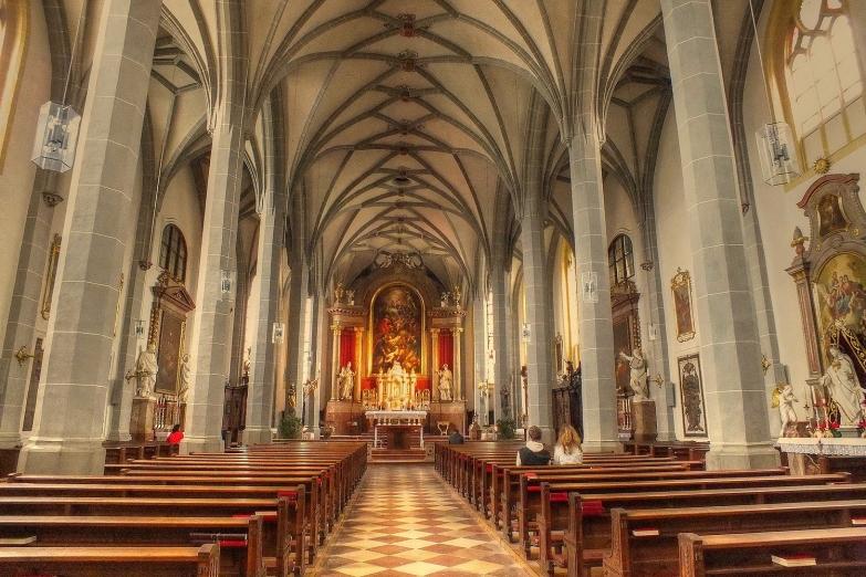 Интерьер церкови Св. Филиппа и Иакова в Альтеттинге