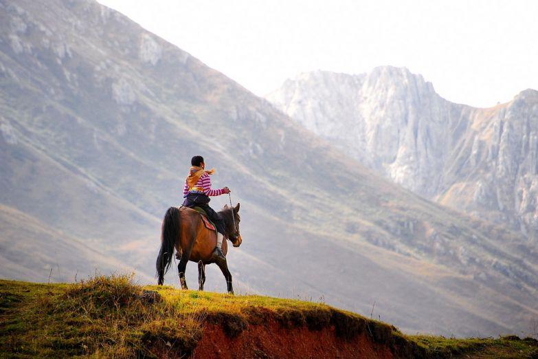 Наездник в Тибете