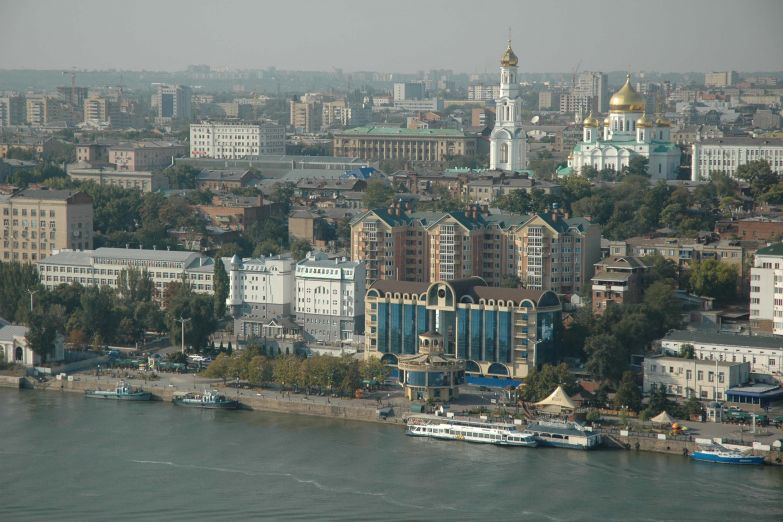Вид на Ростов-на-Дону с берега Дона