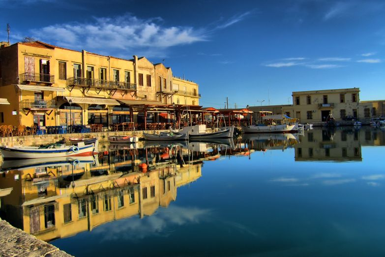 Гавань в городе Ретимно, остров Крит