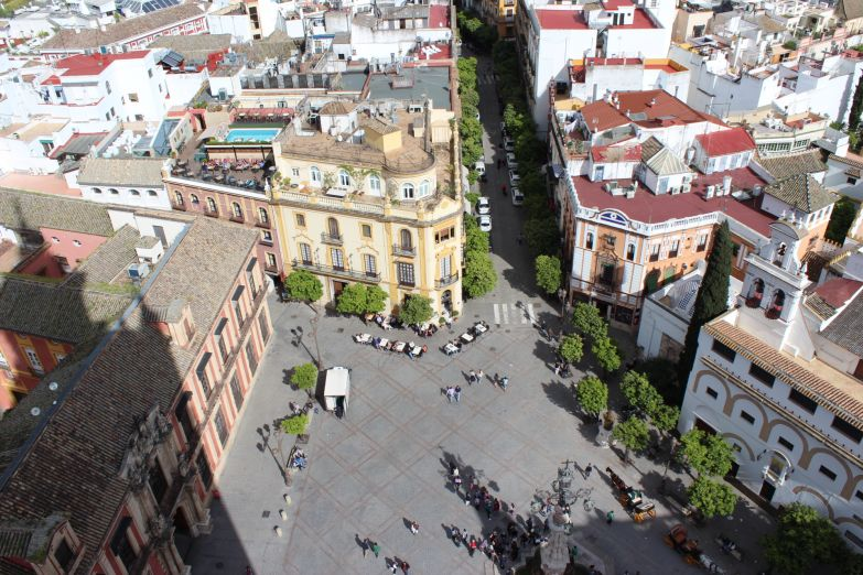 Вид на город с башни Хиральда