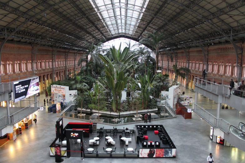 Сад на вокзале Аточа