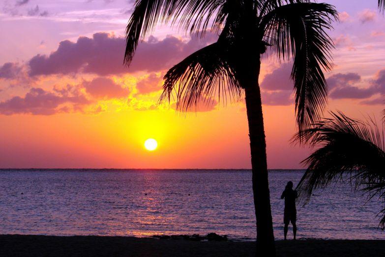 Закат на Карибах