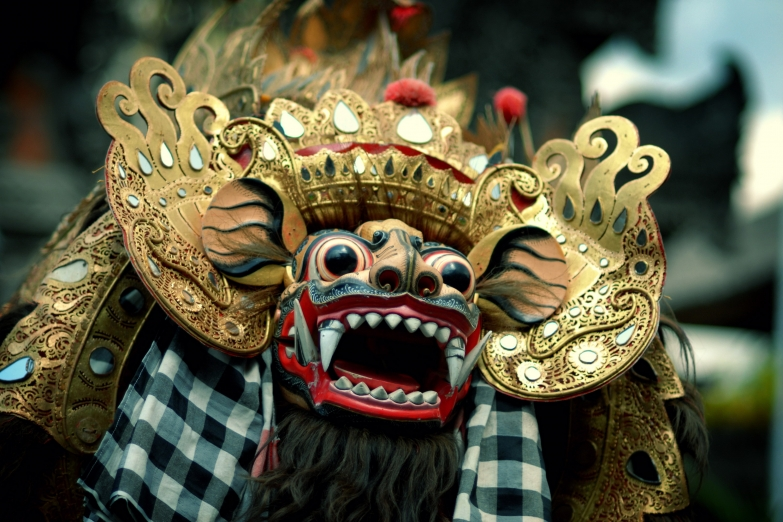 Маска Тигриного танца с Бали