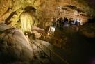 Внутри Новоафонской пещеры
