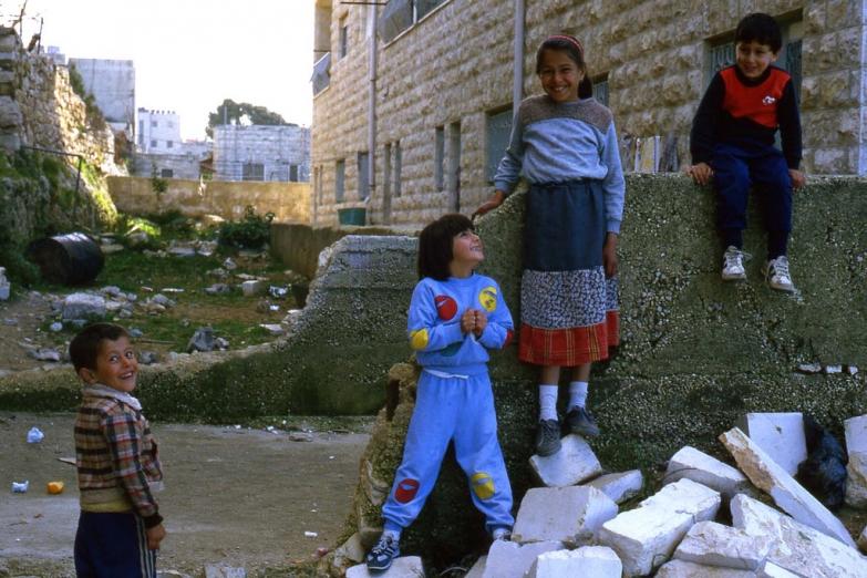 Палестинские дети в Вифлееме