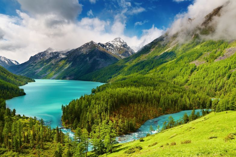 Озеро Кучерлинское на Алтае