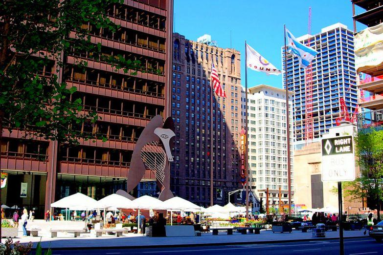 Статуя Пикассо в Чикаго