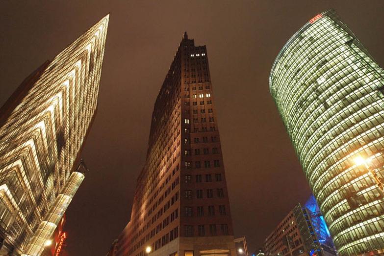 Вечер на Потсдамской площади
