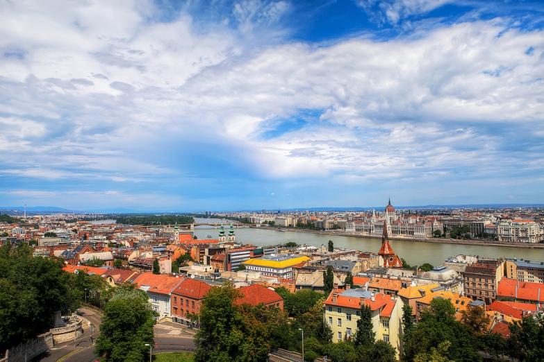 Вид на центр Будапешта