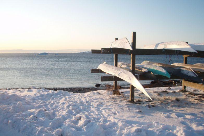 Рыбацкие лодки ждут своих хозяев