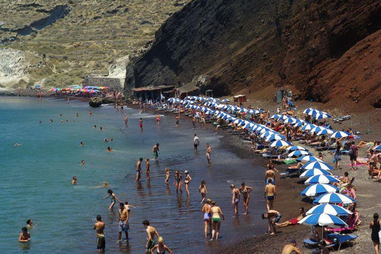 Пляж на Санторини