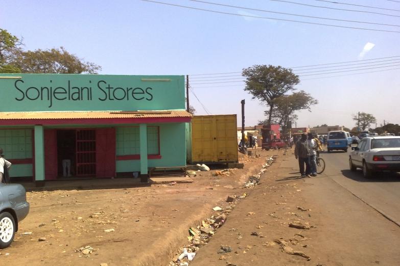 Магазин на одной из улиц Лусаки