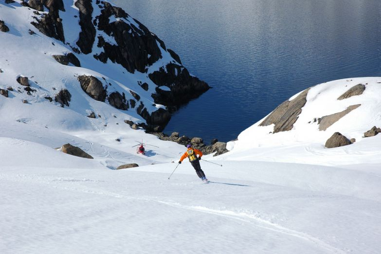 Катание на лыжах в Гренландии