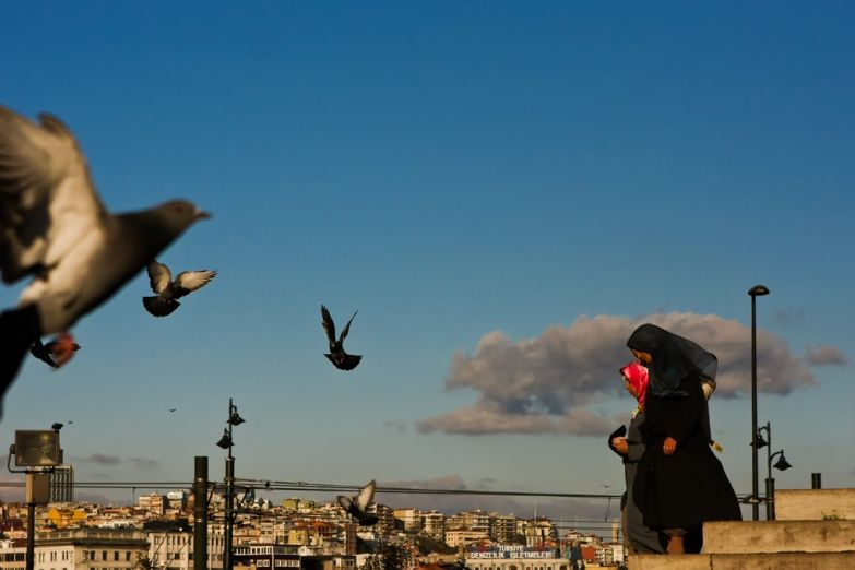 Горожане в Стамбуле