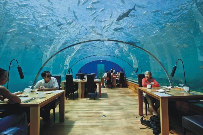 Ресторан в глубине океанских вод