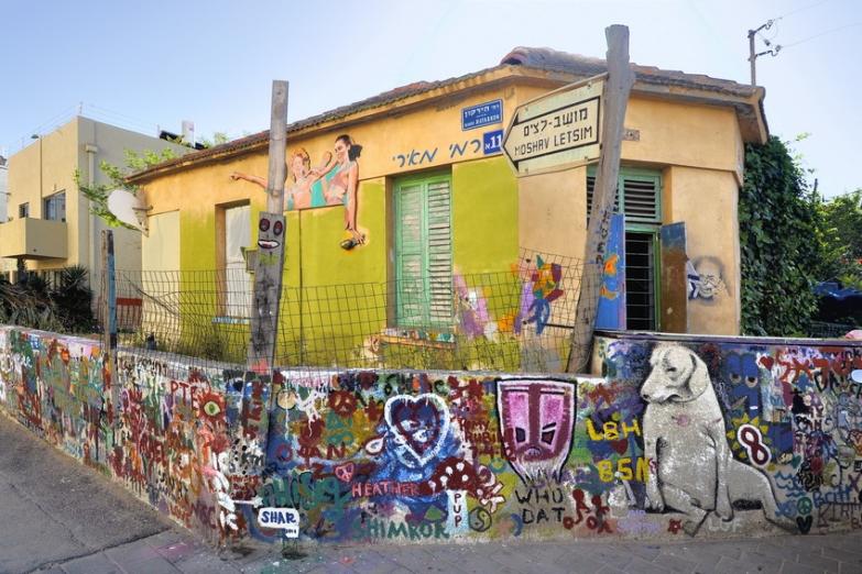 Уличное граффити в Тель-Авиве