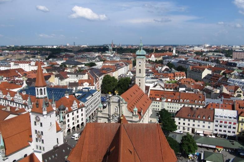 Панорама исторического центра Мюнхена