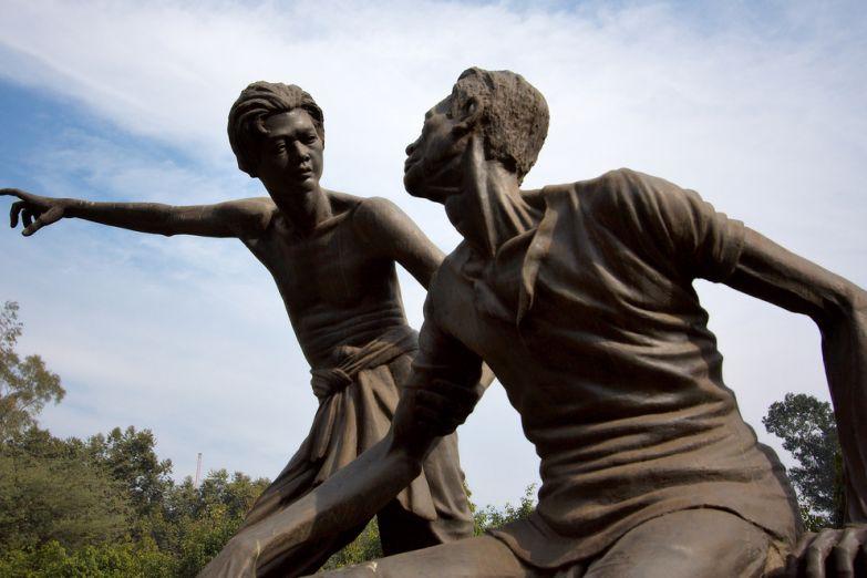 Статуя Мохатмы Ганди