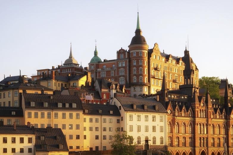 Старинные здания в Стокгольме