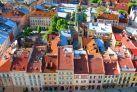 Центр Львова, вид сверху