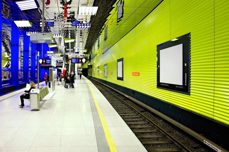Станция Münchner Freiheit мюнхенского метро