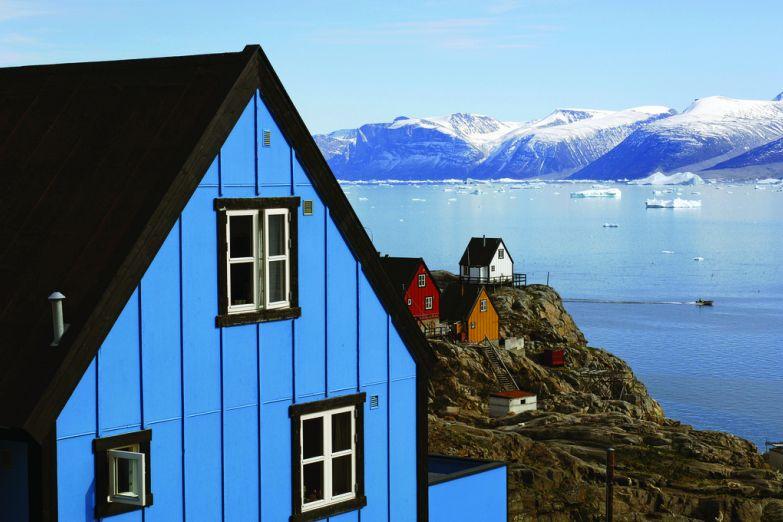 Город Ууманнак в Гренландии