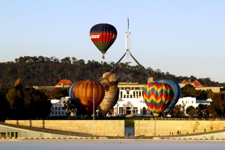 Воздушные шары у озера Барли Гриффина