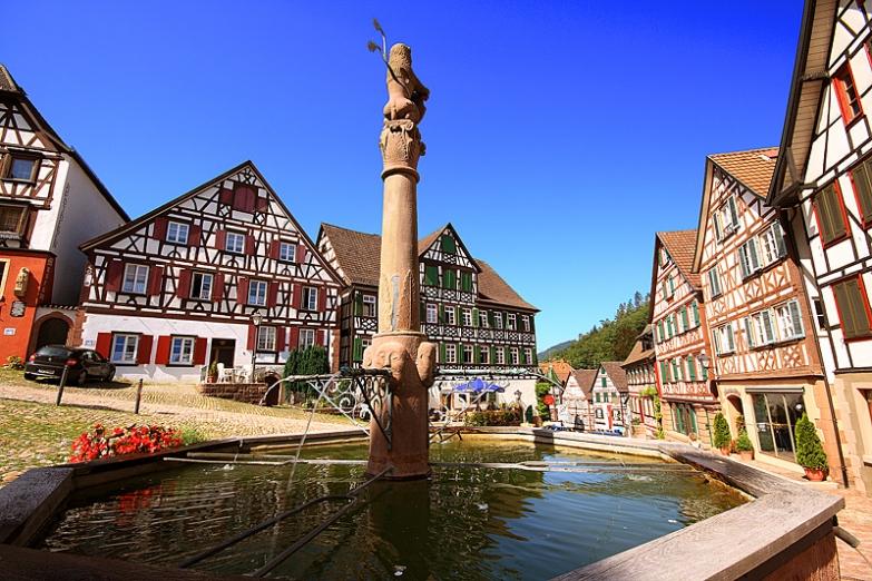 Рыночная площадь в историческом городе Шильтах