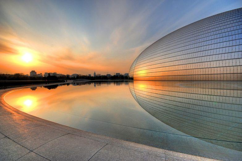 Здание пекинской оперы