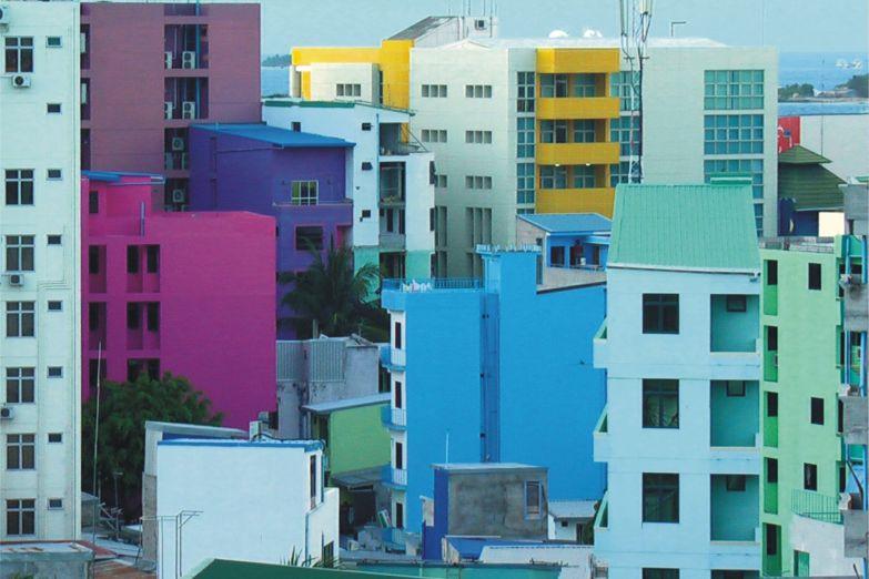Разноцветные дома Мале