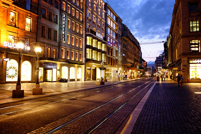 Вечерняя Женева