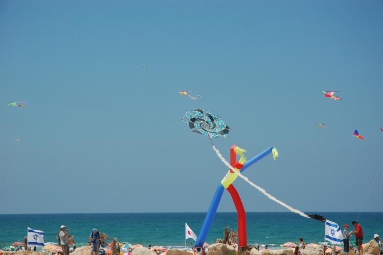 На пляже Хайфы