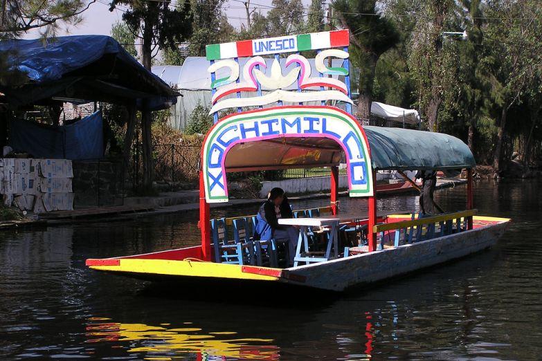 Лодка в районе Сочимилько