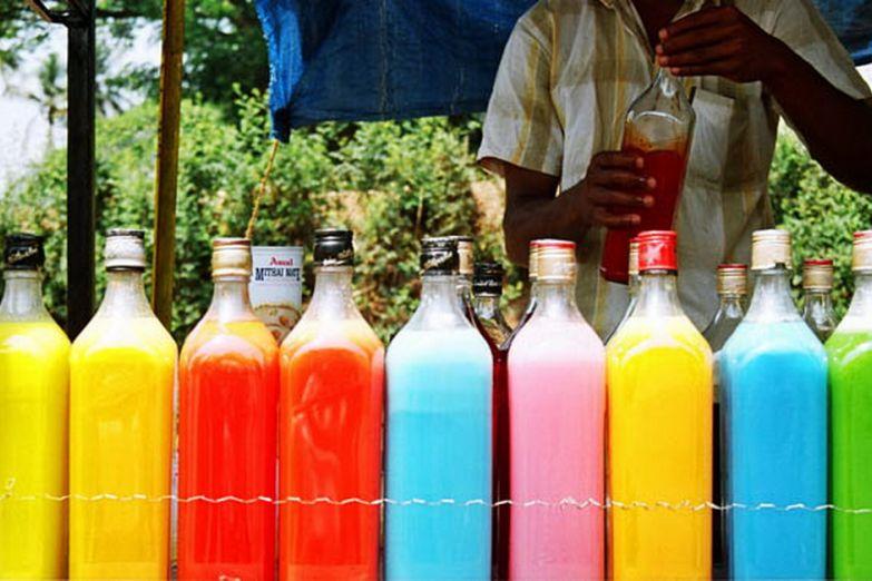 Разноцветные напитки