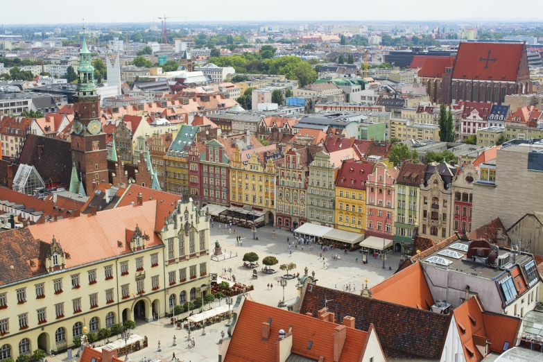 Панорама центра Вроцлава