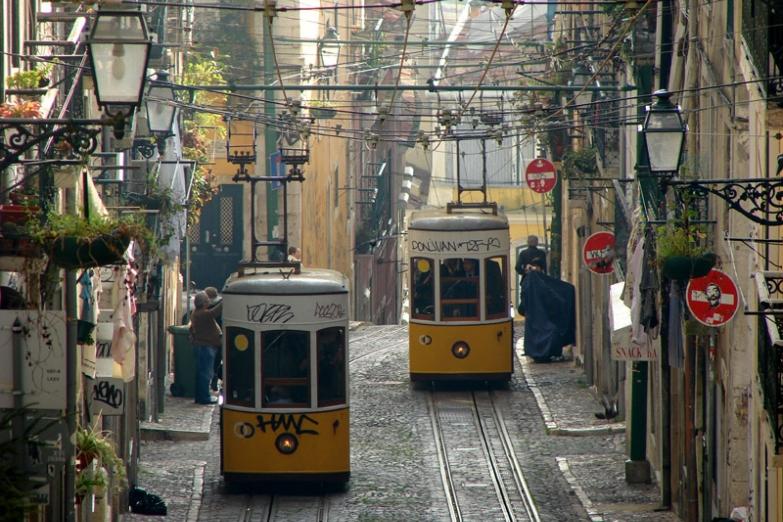 Старинные трамваи Лиссабона