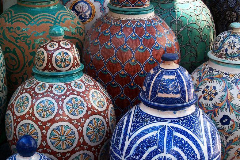 Керамика с традиционной мозаикой