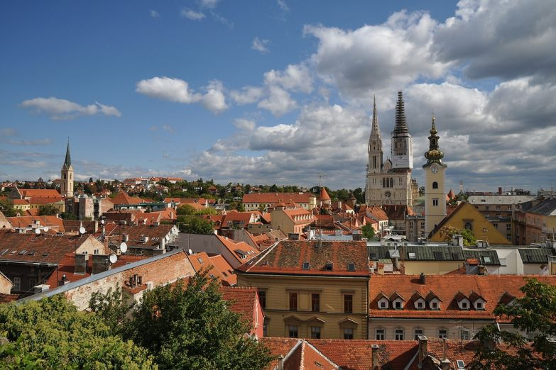 Панорама исторического центра Загреба