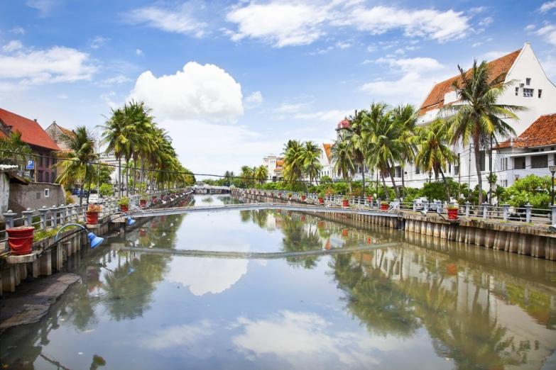 Канал в Старом городе Джакарты