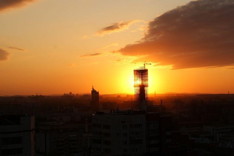 Рассвет над Екатеринбургом