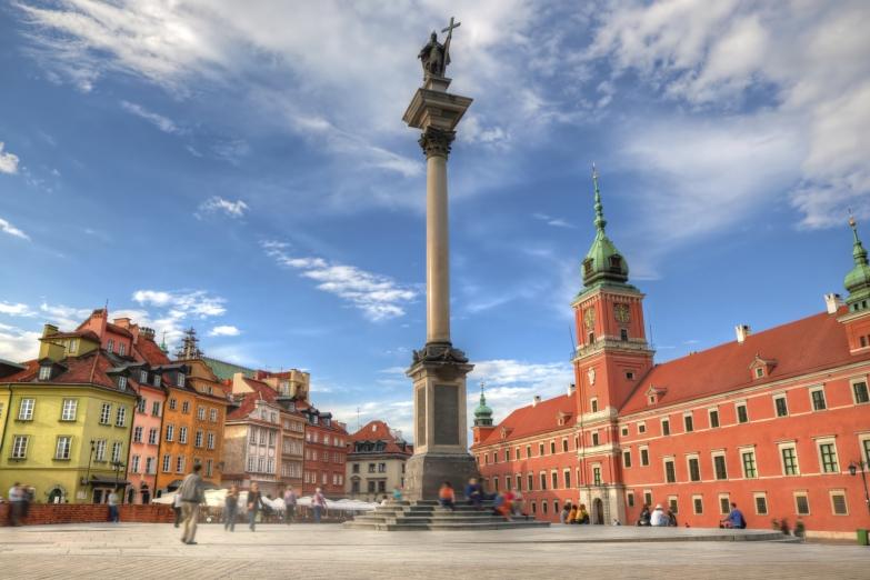 Площадь перед Королевским замком Варшавы